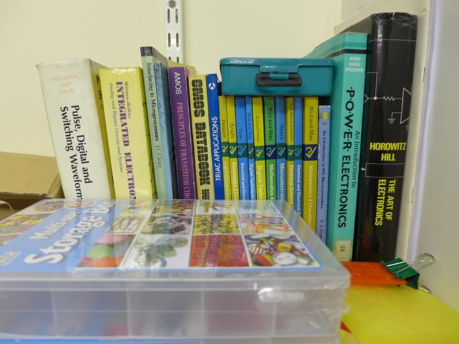 Many electronics books, from Triacs to Horowitz & Hill