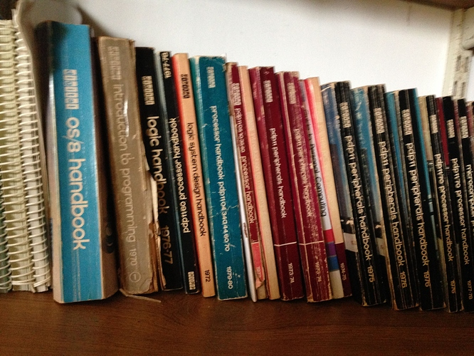 Many DEC books, from OS/8 to pdp11