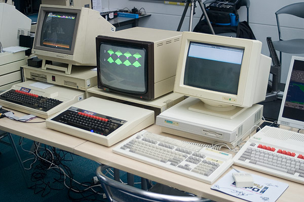 The BBC Micro running Granny's Garden from the Archimedes A410/1 Econet Server